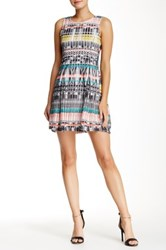 Romeo And Juliet Couture Multi Colored Stitch Dress