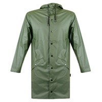 Rains Women's Green Hooded Mac