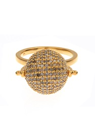 Jade Jagger Diamond And Gold Plated Disco Ball Ring
