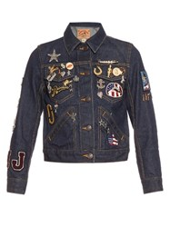 Marc Jacobs Embroidered Shrunken Denim Jacket