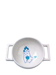 Imperfect Design Blue Pottery Collection Colander
