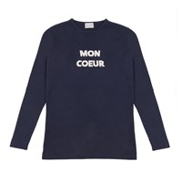 Orwell Austen Cashmere Mon Coeur Sweater In Navy And White White Blue
