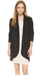 James Perse Boiled Cashmere Cardigan Anthracite