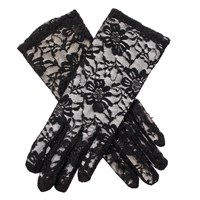 Dents Ladies Lace Evening Glove Black