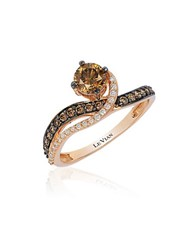 Le Vian 14K Rose Gold Chocolate And Vanilla Diamond Ring