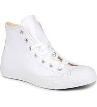 Converse All Star Leather High Top Trainers White