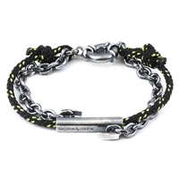Anchor And Crew All Black Belfast Rope Bracelet