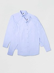 Topman Blue Long Sleeve Oxford Casual Shirt 2 Pack