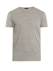 Atm Anthony Thomas Melillo Patch Pocket Cotton Blend T Shirt Grey