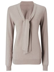 Jacques Vert Tie Neck Jumper Mid Neutral