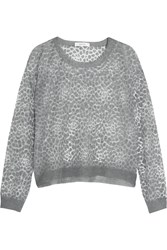Milly Burnout Jersey Top Gray