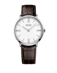 Hugo Boss Jackson Stainless Steel Leather Strap Watch Brown