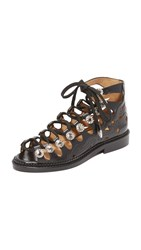 Toga Pulla Lace Up Sandals Black
