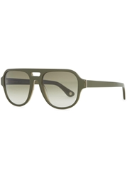 Orlebar Brown Sorensen Green Aviator Style Sunglasses