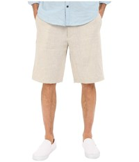 Perry Ellis Linen Washed Drawstring Shorts Natural Linen Men's Shorts Beige