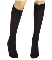 Wolford Velvet De Luxe 50 Knee Highs Admiral Women's Knee High Socks Shoes Navy