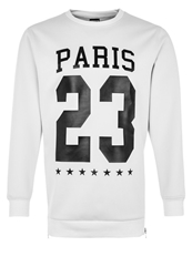 Urban Classics Crew Paris Sweatshirt White
