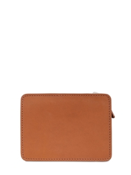 Bonastre Vegetable Leather Zip Around Mini Wallet Brown Grey