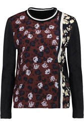 Mother Of Pearl Cinna Printed Silk And Cotton Top Red
