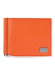 Dolce And Gabbana Fold Over Wallet Yellow And Orange