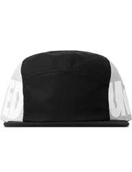 Black Constructed Camp Cap