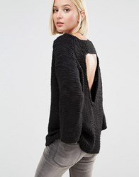 Cheap Monday Knit Jumper With Open Back Black