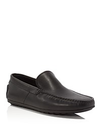 Hugo Boss Traleo Embossed Leather Loafers Black