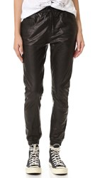 R 13 Leather Boy Skinny Jogger Pants Black