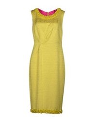 Ivan Montesi Knee Length Dresses Yellow