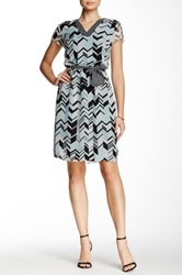 Robbie Bee V Neck Print Dress Multi