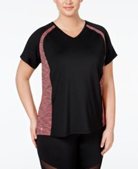 Ideology Plus Size Colorblocked T Shirt Only At Macy's Ticking Stripe
