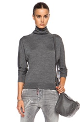 Dsquared Turtleneck Wool Blend Sweater In Gray