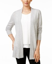 Charter Club Petite Cashmere Open Front Cardigan Only At Macy's Heather Crystal