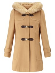 Miss Selfridge Toggle Duffle Coat Camel