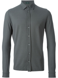 Zanone Long Sleeve Shirt Grey
