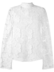 Perseverance Paisley Embroidery Top White