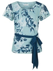 Jacques Vert New Floral Printed Top Blue
