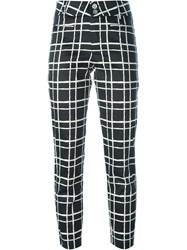 Steffen Schraut Check Print Cropped Trousers Black