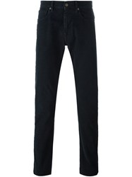 Incotex Textured Trousers Blue