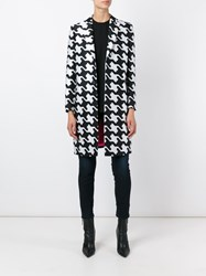 Dsquared2 Geometric Print Tailored Coat Black