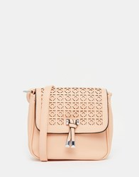 Liquorish Saddle Bag With Cut Work Pink