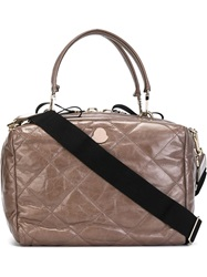 Moncler Medium Quilted Tote Grey
