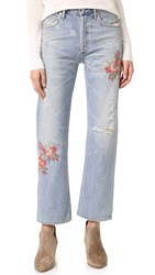 Citizens Of Humanity Cora High Rise Relaxed Crop Jeans Cherry Blossom