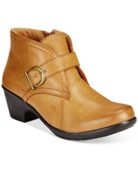 Easy Street Shoes Banks Ankle Booties Women's Tan