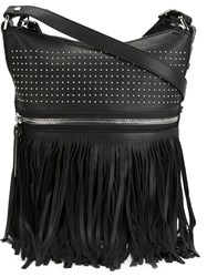 Diesel Black Gold Studded Fringe Shoulder Bag