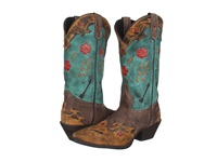 Laredo Miss Kate Tan Brown Teal Cowboy Boots Multi