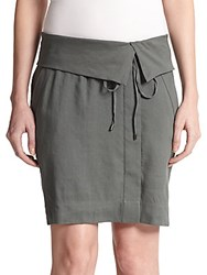 Vince Fold Over Wrap Skirt Cypress