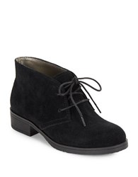 Bandolino Talon Suede Lace Up Booties Black