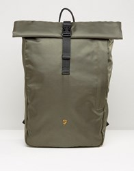 Farah Roll Top Backpack In Green Green