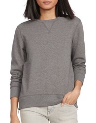 Polo Ralph Lauren Side Zip Fleece Sweatshirt Grey